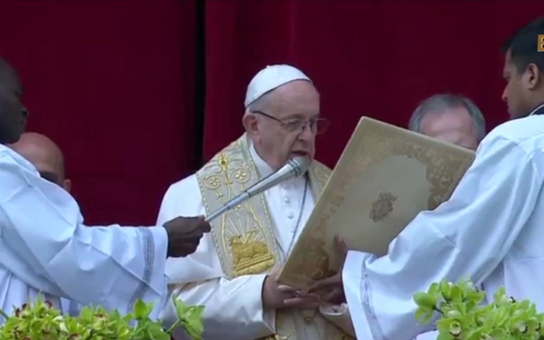 Великоднє послання Папи Франциска та благословення «Urbi et Orbi» (Місту і світу), 1 квітня 2018