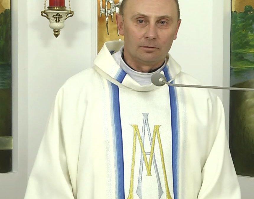 Проповідь отця Войчеха Вітека під час Святої Меси в каплиці телеканалу EWTN