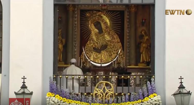 Молитва Папи Франциска перед Остробрамською чудотворною іконою Матері Милосердя, 22 вересня 2018