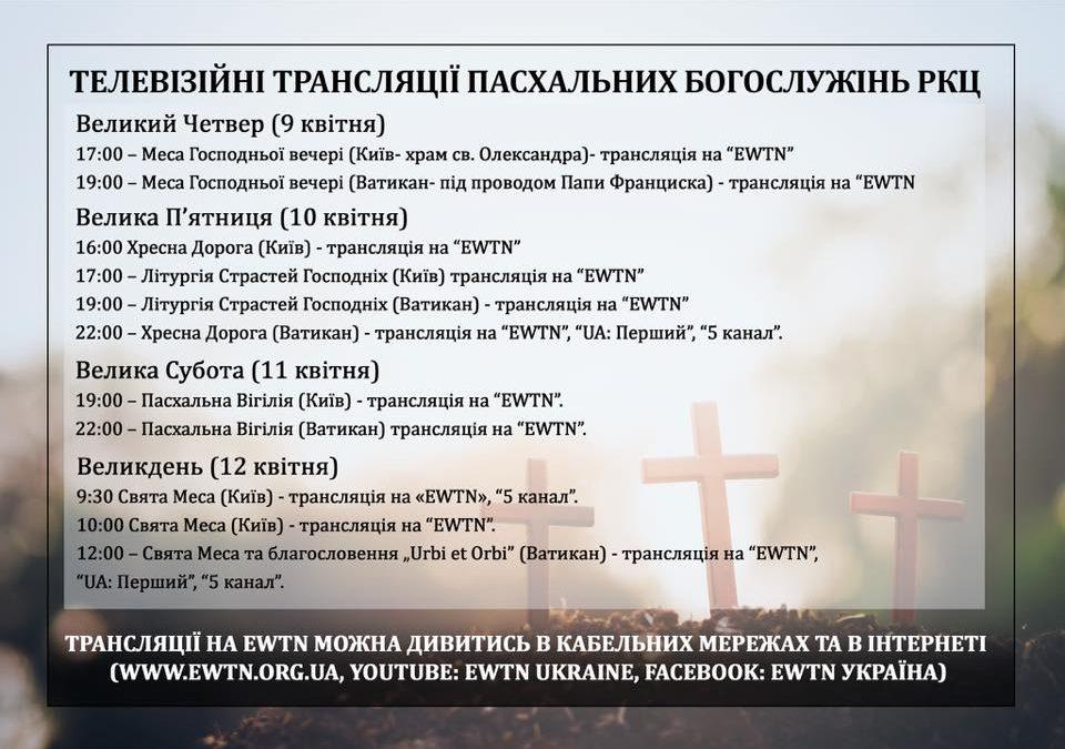 Трансляції великодніх богослужінь на EWTN